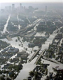 Floodwaters from Hurricane Katrina fill the streets near downtown New Orleans Tuesday, Aug. 30, 2005 in New Orleans. (AP Photo/David J. Phillip)