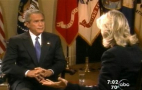 In this image from video released by ABC News, President Bush is shown during a live interview at the White House with Diane Sawyer Thursday, Sept. 1, 2005, on Good Morning America about relief efforts for the Gulf Coast and the destruction caused by Hurricane Katrina. (AP Photo/ABC News)